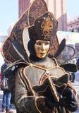 Fantasma misterioso en el carnaval de Venecia Imágenes de archivo libres de regalías