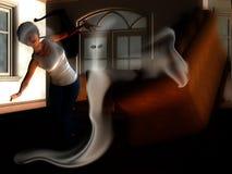 Fantasma na casa Fotografia de Stock