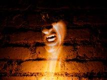 Fantasma nas paredes Fotografia de Stock Royalty Free