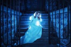 Fantasma nella notte fotografia stock