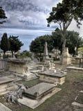 Fantasma no cemitério Fotografia de Stock Royalty Free
