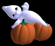 Fantasma pequeno Relaxed de Halloween ilustração royalty free
