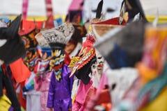 Fantasma variopinto della maschera al festival 2017 del khon di tum del phi Immagini Stock