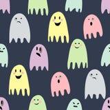 Fantasmas assustadores bonitos Ilustração feliz de Halloween Ilustração Stock