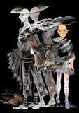Fantasmas assustadores, um fantasma gêmeo, um fantasma da criança Imagem de Stock