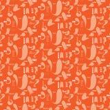 Fantasmas da laranja do teste padrão de Dia das Bruxas Fotos de Stock Royalty Free
