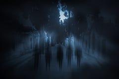 Fantasmas da Lua cheia Imagens de Stock Royalty Free