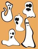 Fantasmas de Halloween Fotografia de Stock