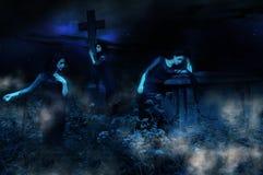 Fantasmas del cementerio Fotos de archivo libres de regalías