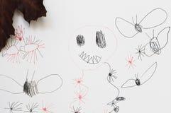 Fantasmas del dibujo de Childs Fotografía de archivo