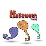 Fantasmas del partido de Halloween Imagen de archivo
