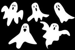 Fantasmas dos desenhos animados ilustração do vetor