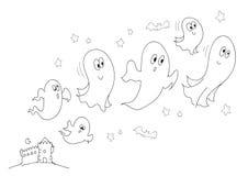 Fantasmas e bw do castelo Imagem de Stock