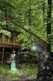Fantasmas en el bosque stock de ilustración