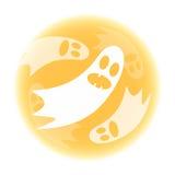 Fantasmas na lua amarela Imagem de Stock