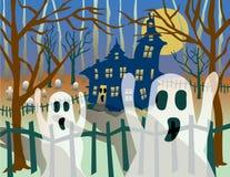 Fantasmas transparentes ilustração royalty free