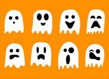 2018 fantasmi in bianco e nero per la celebrazione di Halloween illustrazione vettoriale