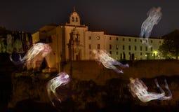 Fantasmi intorno al castello Fotografia Stock