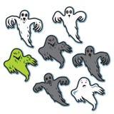 Fantasmi terrificanti spettrali di Halloween Fotografia Stock Libera da Diritti