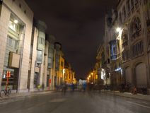 Fantasmi in una via di Gand Fotografia Stock Libera da Diritti