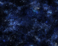 Fantastic abstract background with clouds, stars and sparkles th Stock Photography