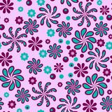 Fantastic abstract flowers. On the pink background vector illustration