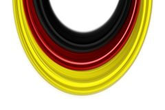 Fantastic abstract german colors for sport events. With space for your text stock illustration