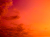 Fantastic abstract red color of twilight cloud and sky. Fantastic abstract red tone color of twilight cloud and sky stock image