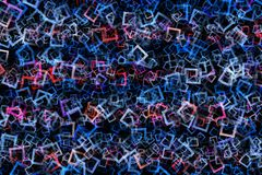 Fantastic abstract square background design. Illustration royalty free stock photo