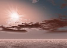 Fantastic alien sunrise Stock Photo