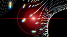 Fantastic animation with moving particle object and lights, loop HD 1080p stock footage