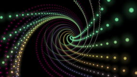 Fantastic animation with particle stripe object in motion, loop HD 1080p stock video footage