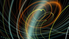 Fantastic animation with particle stripe object in motion, loop HD 1080p stock video