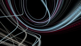 Fantastic animation with particle stripe object in slow motion, loop HD 1080p stock footage