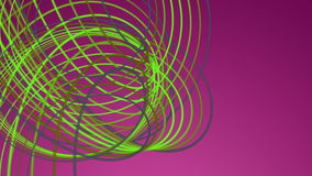 Fantastic animation with stripe object in motion, loop HD 1080p Stock Images