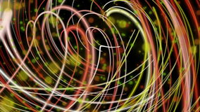 Fantastic animation with stripe object in motion, loop HD 1080p stock footage
