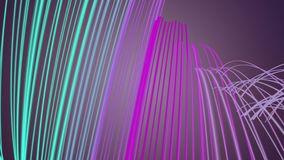 Fantastic animation with stripe wave object in motion, loop HD 1080p Royalty Free Stock Photography
