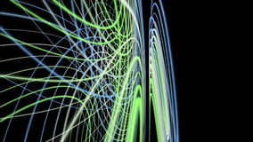 Fantastic animation with stripe wave object in motion, loop HD 1080p Royalty Free Stock Photos