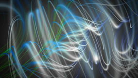 Fantastic animation with stripe wave object in motion, loop HD 1080p Stock Photos