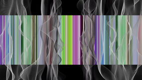 Fantastic animation with wave object in motion and color changing stripes, loop HD 1080p stock footage