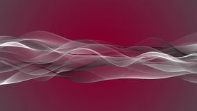 Fantastic animation with wave object in motion and space for your text, loop HD 1080p stock footage