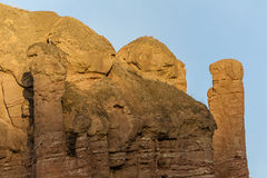 Fantastic in appearance of Danxia landform Royalty Free Stock Images
