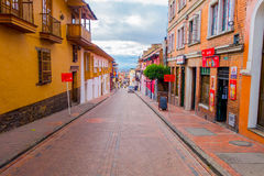 Fantastic architecture small townhouses along red Stock Photography