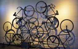 Fantastic Art Decor, decorated design made up of retro style cycles Stock Image