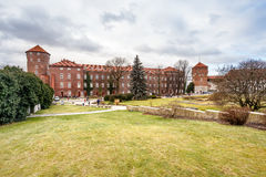 Fantastic autumn Krakow. The Royal Wawel Castle in Poland Stock Photos