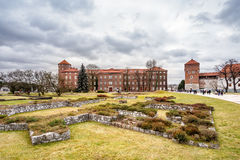 Fantastic autumn Krakow. The Royal Wawel Castle in Poland Royalty Free Stock Photos