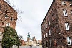 Fantastic autumn Krakow. The Wawel Cathedral in Poland Royalty Free Stock Photography