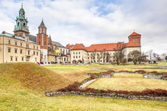 Fantastic autumn Krakow. The Wawel Cathedral in Poland Stock Photos