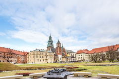 Fantastic autumn Krakow. The Wawel Cathedral in Poland Royalty Free Stock Photo