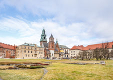 Fantastic autumn Krakow. The Wawel Cathedral in Poland Royalty Free Stock Photos